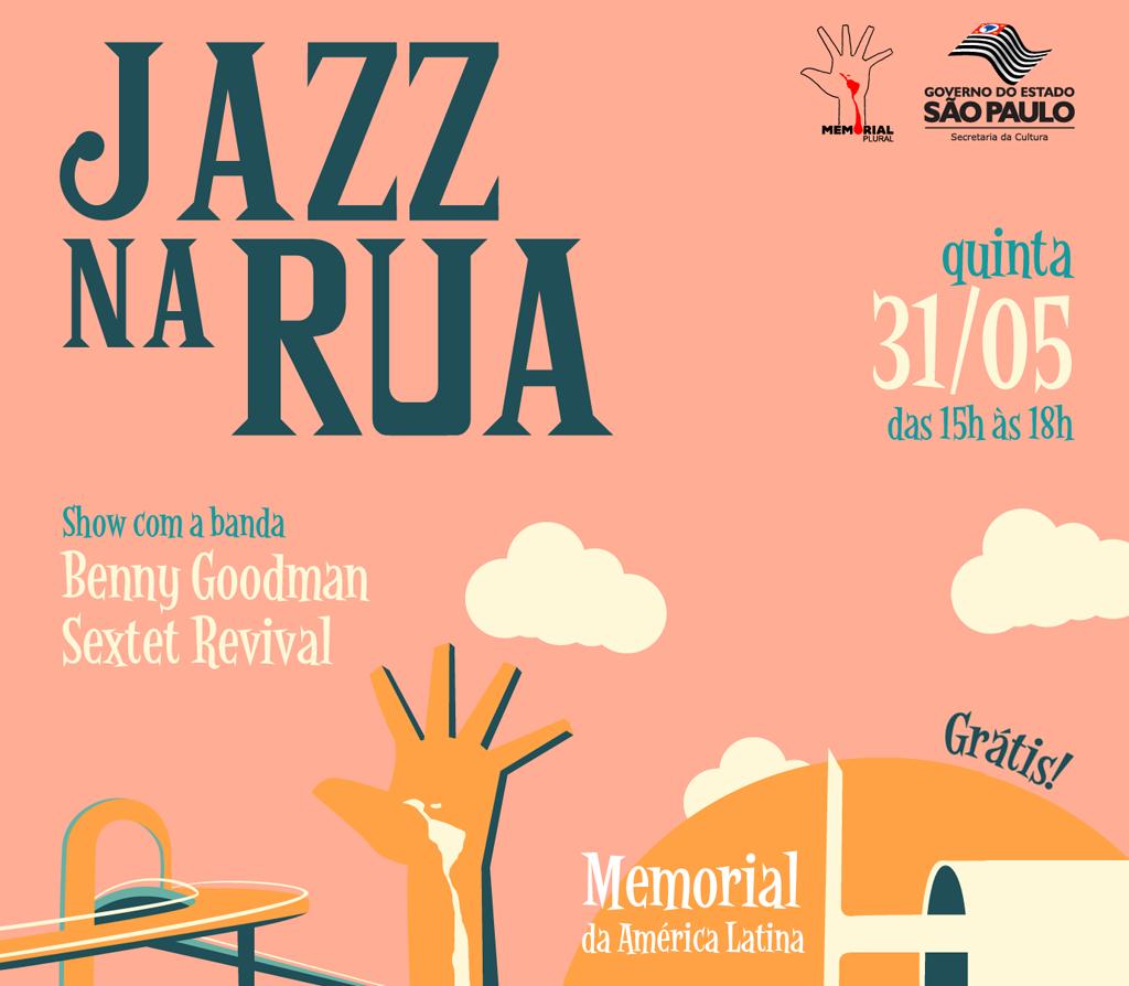 Próximo feriado terá Jazz na Rua no Memorial