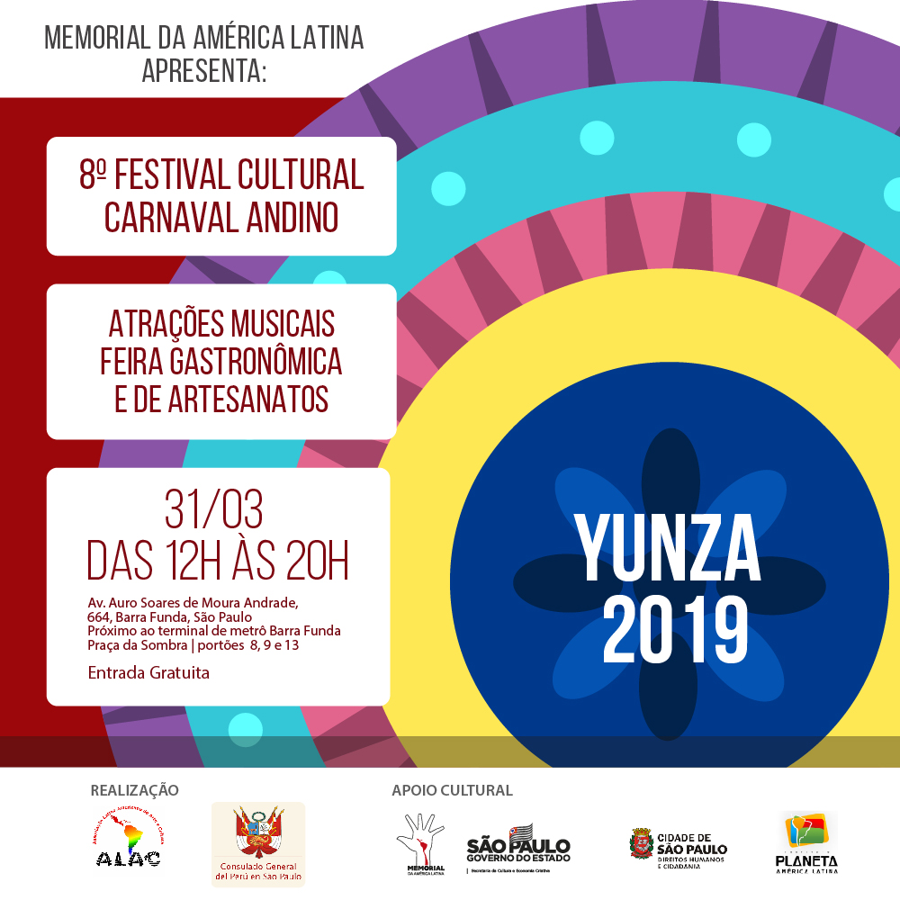 Carnaval Andino reúne comunidades latinas no Memorial